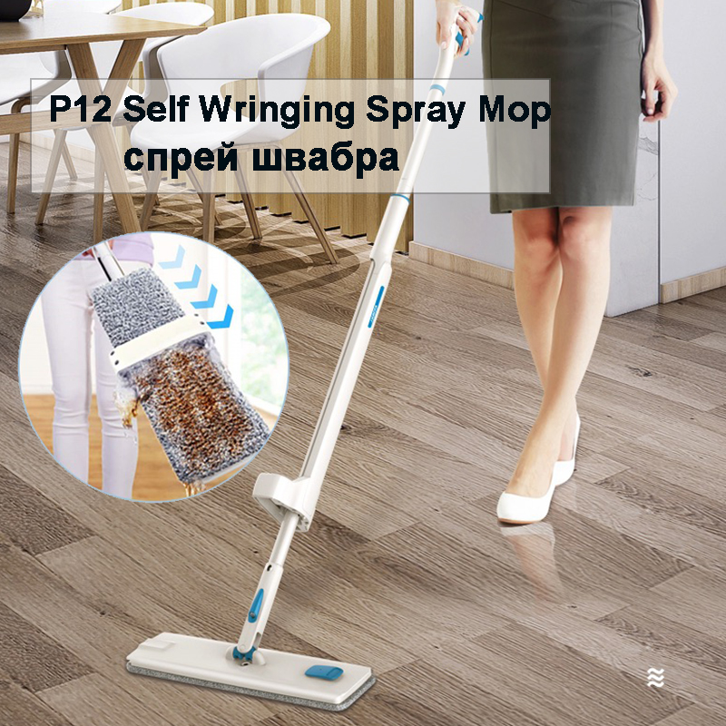Mop Microfiber-Spray Ceramic Floor-Cleaning Mop-Pads Home-Laminate Reusable with 360-Degree-Handle