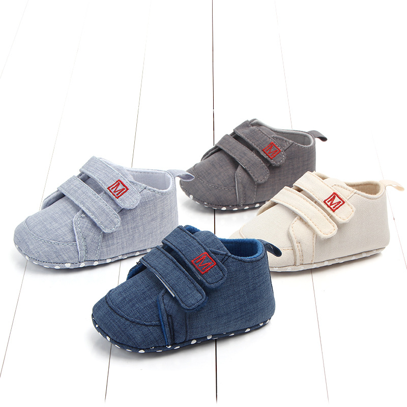 Newborn Toddler Shoes Classic Canvas Baby Shoes First Walker Fashion Baby Boys Girls Shoes Cotton Casual Shoes Baby Girl Sneaker image
