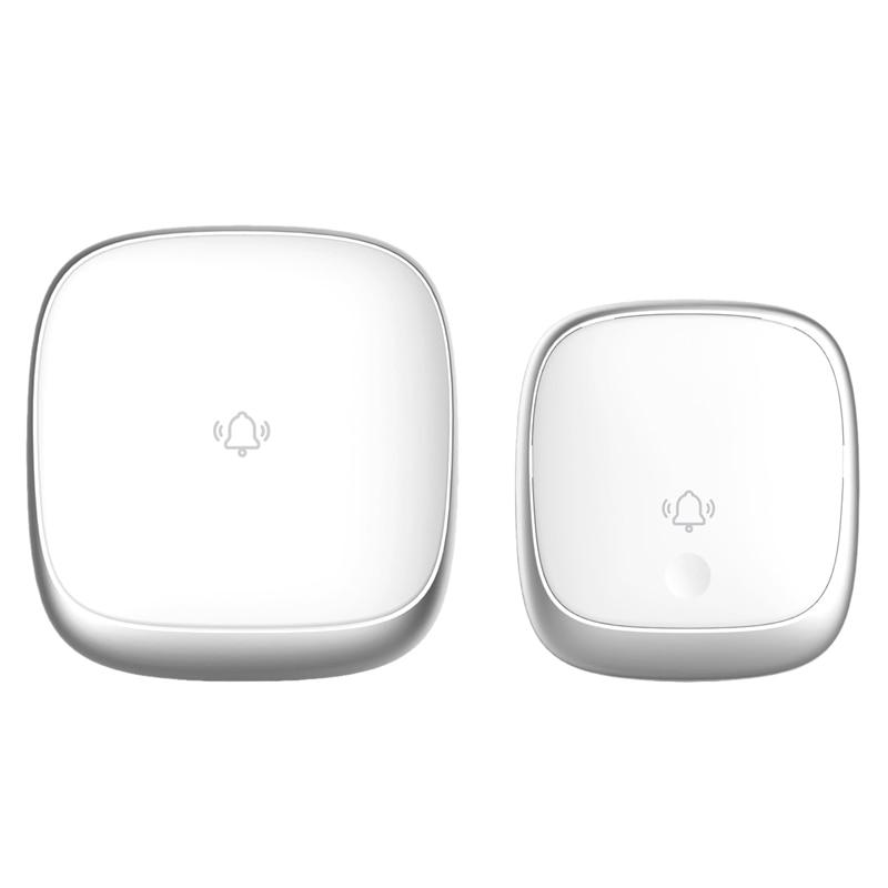 AC 100-240V Wireless Led Doorbell Self-Powered No Battery Need Waterproof Home Wireless Door Bell Door Ring Smart Home Devices(U