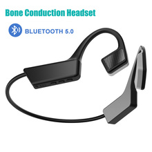 Bone Conduction Headset Bluetooth 5.0 Wireless Headset Bluetooth Bluetooth Headset TWS Bloototh Android Sports Headset mix8 open ear bone conduction bluetooth v4 1 headset outdoor sports wireless bluetooth headset head mounted headphones