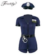 Sexy Femminile Cop Ufficiale di Polizia Uniforme Poliziotte Costume di Halloween Per Adulti Delle Donne Della Polizia di Cosplay del Vestito Operato