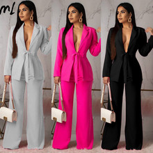 Autumn Office Ladies Two Piece Set Elegant Workwear Casual Business Matching