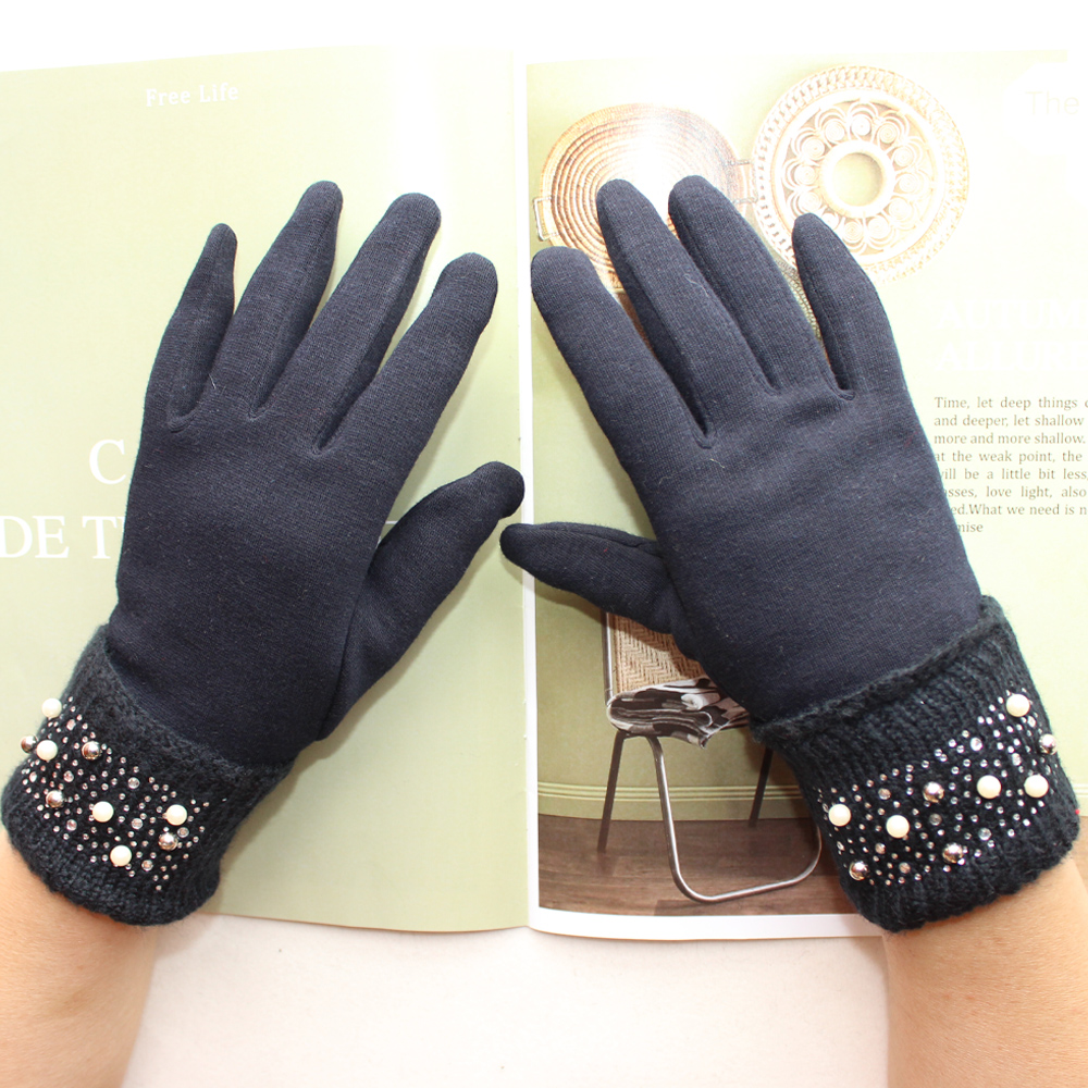 Bickmods New Ladies Knitted Gloves Colored Diamond Style Fashionable Autumn and Winter Warmth Gloves