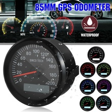 Speed-Gauge Boat Universal 85mm LED 24V 12V Waterproof for Car Truck SUV Backlight-Display