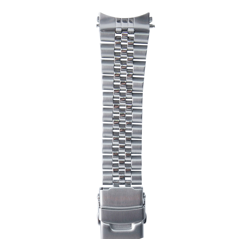22 Mm Stainless Steel Watch Band Bracelets Curved End Replacement For Seiko SKX007 SKX009 SKX011 Without LOGO