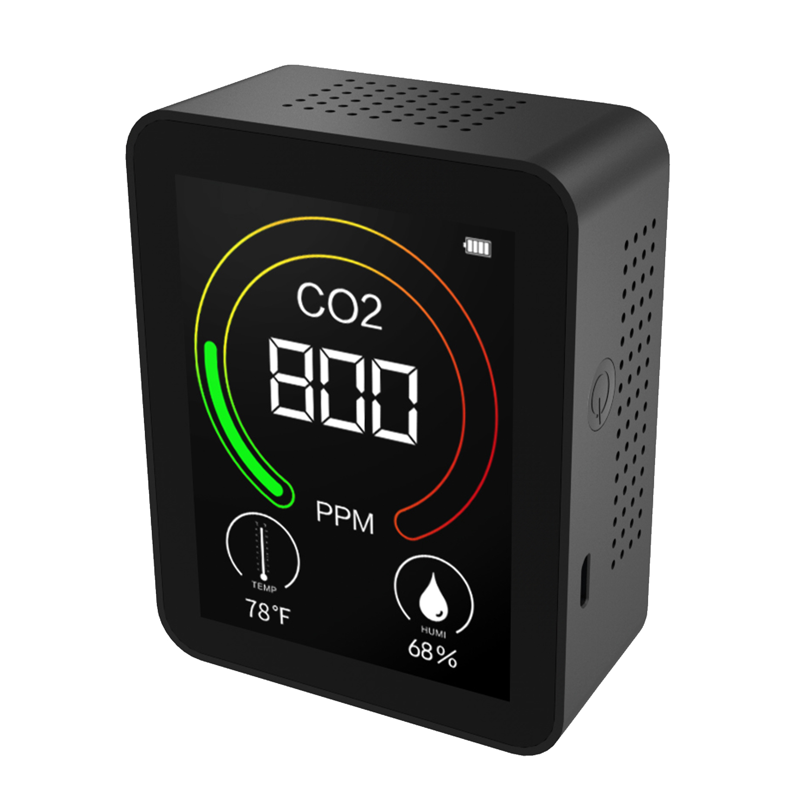 Professional Carbon Dioxide Detector Air Monitor Gas Detector Temperature Humidity Tester Co2 Meter Monitor Usb Rechargeable