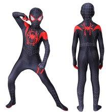 Cosplay Costume Myers Spiderboy Universe-Set Black Children Parallel