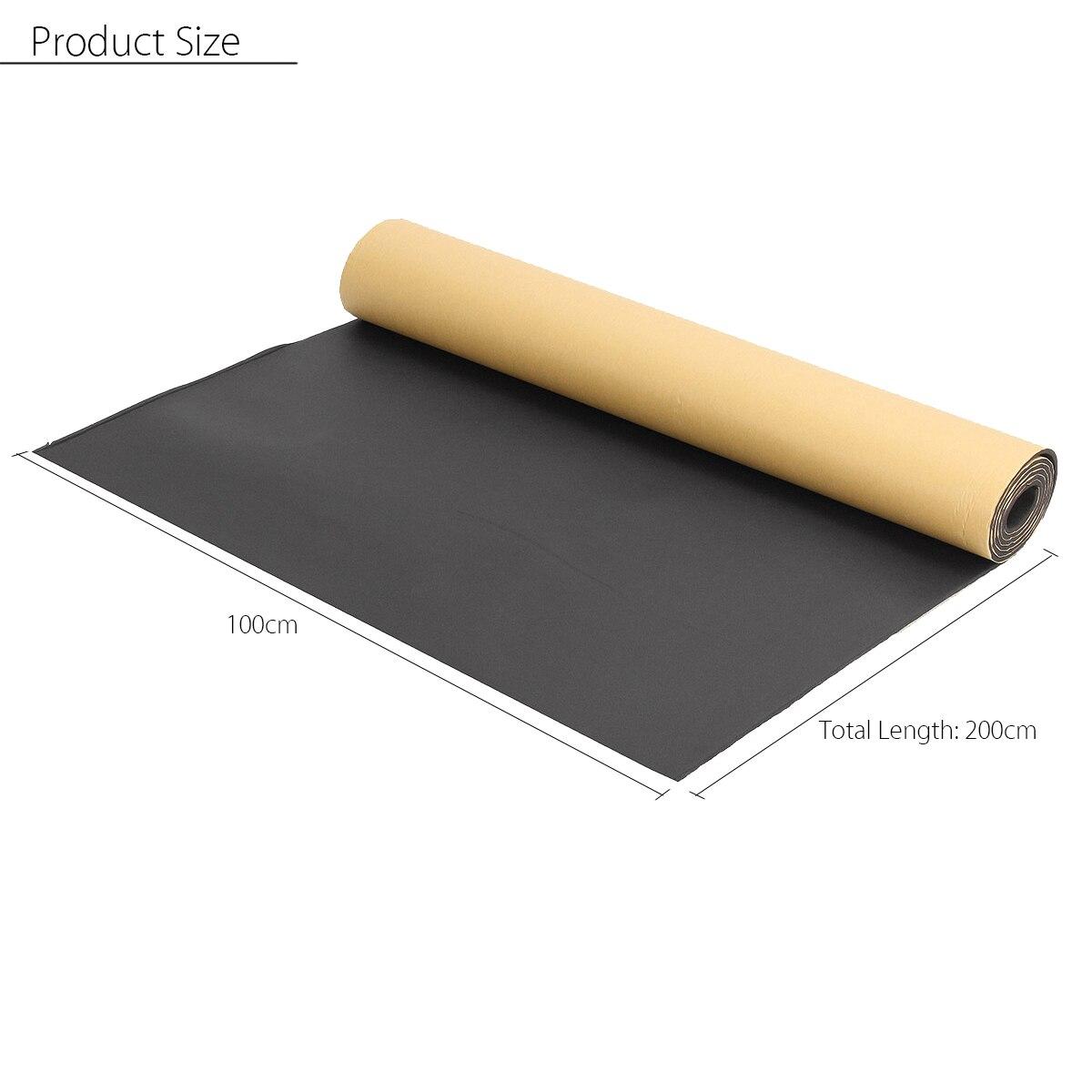 200x100cm Auto isolation thermique acoustique coton Automobiles voiture insonorisé insonorisant isolation mousse tapis intérieur accessoires