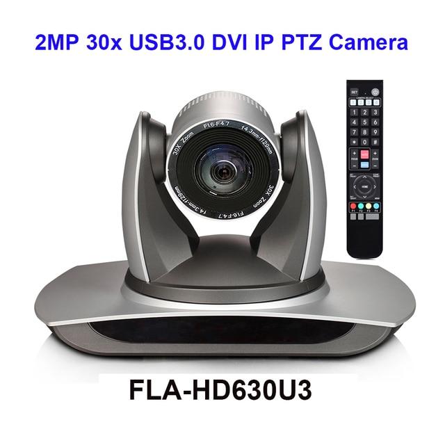 RTMP RTSP caméra de conférence vidéo PTZ ip 1080p, Zoom optique 30X, DVI RJ45, avec interface USB 3.0