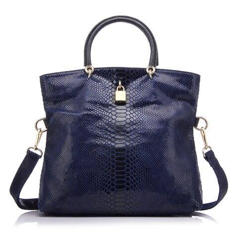 REALER Genuine Leather Bags for women Snake Pattern Tote Bag Top Quality Leather Handbags Evening Clutch Female Shoulder Bag Pakistan