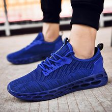 Air Cushion Shoes Male Sports Sneakers Man Sport Shoes Mens Running Shoes for Men Tennis Summer Gym Athletic Blue Trainers A 348