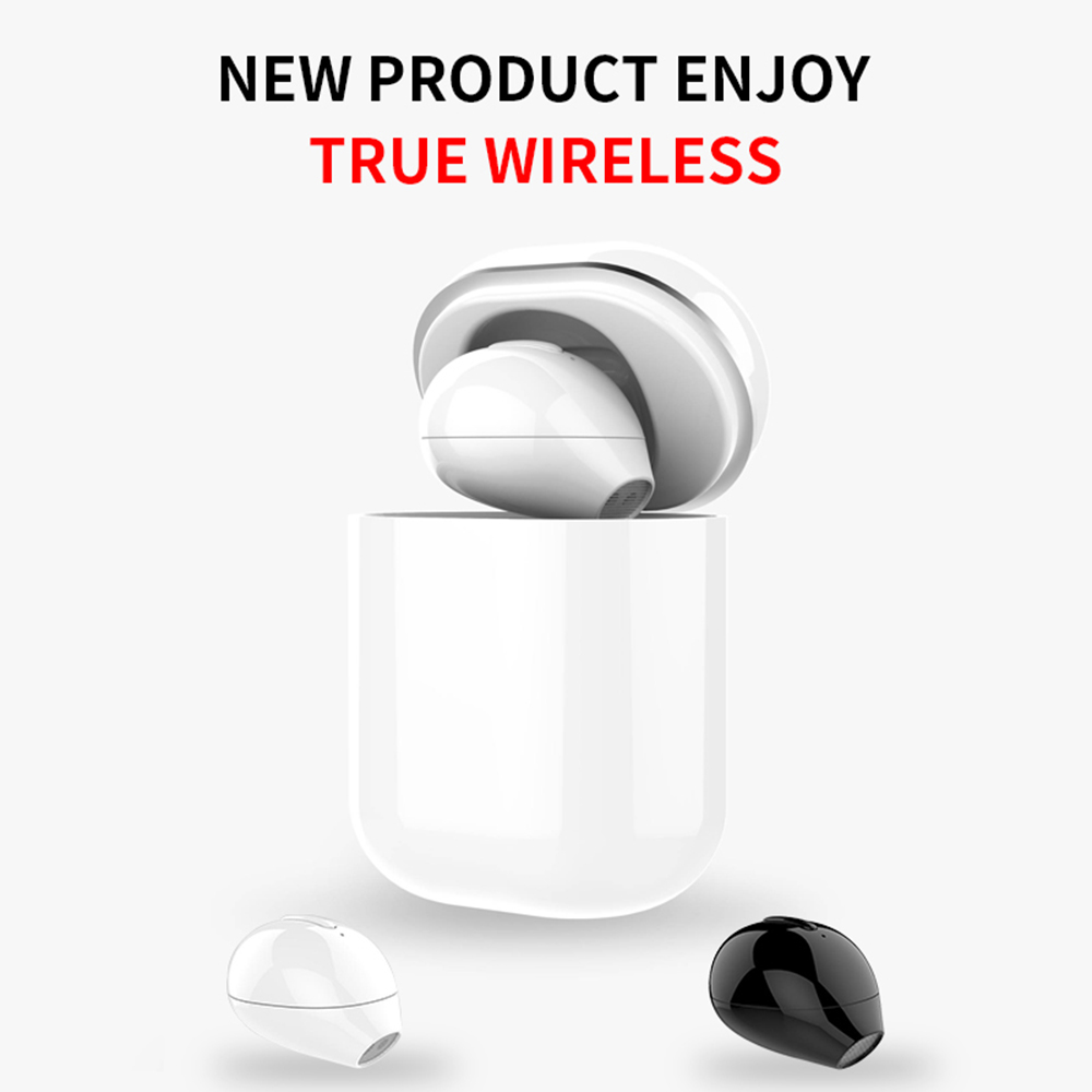 X20 ультра мини Беспроводной один наушник 3 часов Скрытая маленький Bluetooth кнопка воспроизведения музыки Управление вкладыши с зарядом чехол