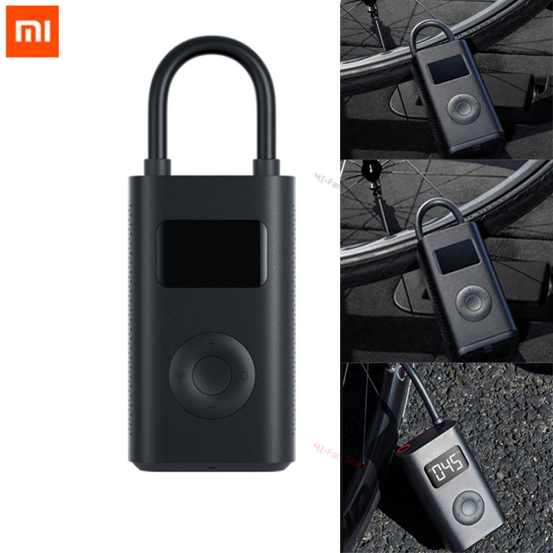 Original Xiaomi Mijia Portable Smart Digital Tire Pressure Detection Electric Inflator Pump for Bike Motorcycle Car Football image