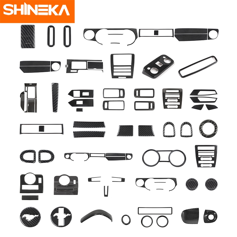 SHINEKA Car Carbon Fiber Interior Decoration Cover Stickers Accessories For Ford Mustang 2009 2010 2011 2012 2013 Car Styling