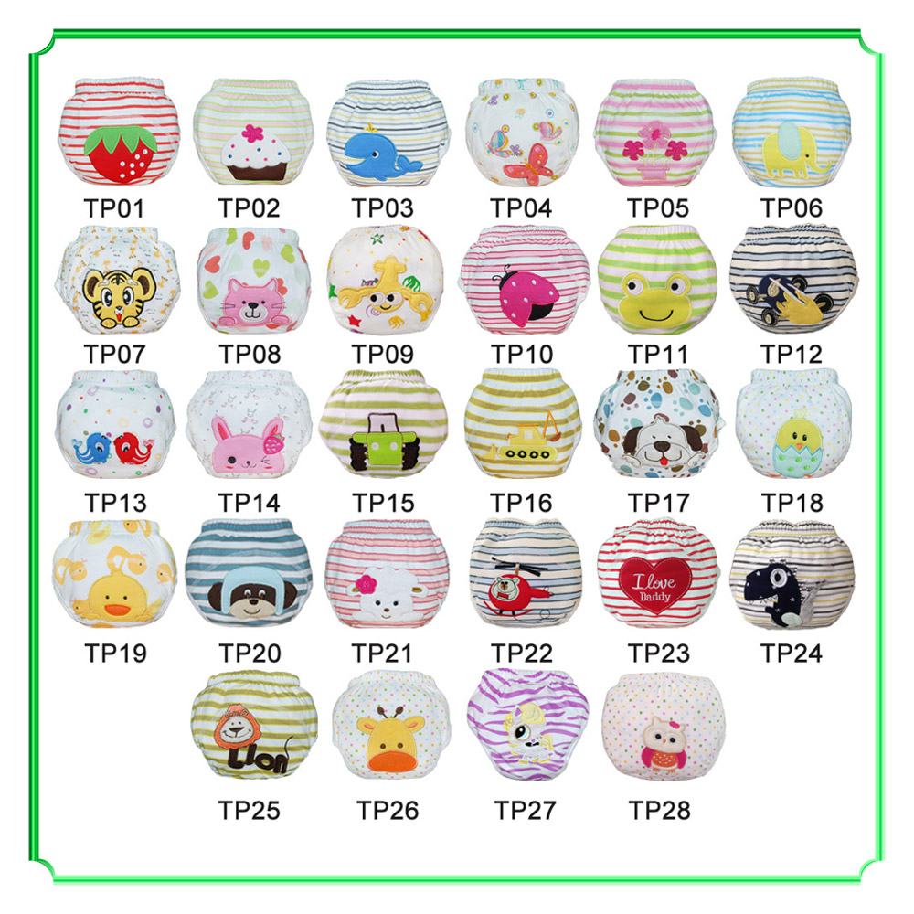 Save Money Baby Training Pants 20pcs Waterproof Cotton Trainer Potty Embroidery Training Diapers 28 Models Child Underwear