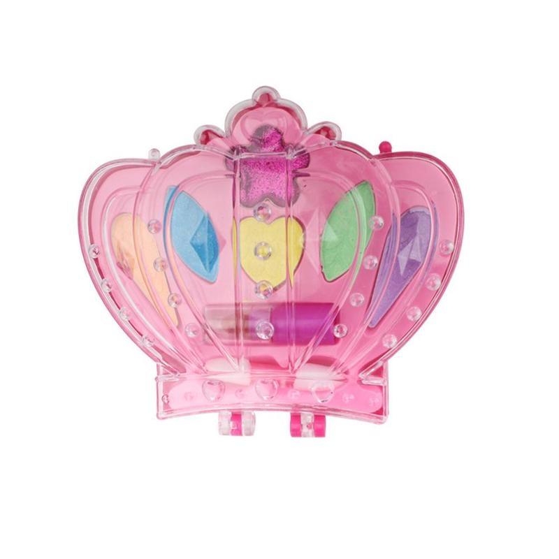 Kids Play House Toy Plastic Safety Beauty Pretend Washable Makeup Set Eyeshadow Lipstick Makeup Girl Games Gifts