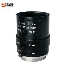 CS-Mount объектив fa 3,0 мегапиксельная камера 2,8-12 мм объектив с переменным фокусным ручная, с иридохрусталиковой диафрагмой ИК Функция объектив камеры наблюдения