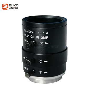 New CS-Mount FA Lens 3.0 Megapixel 2.8-12mm Varifocal  Manual Iris Lens IR Function Security  Camera Lens