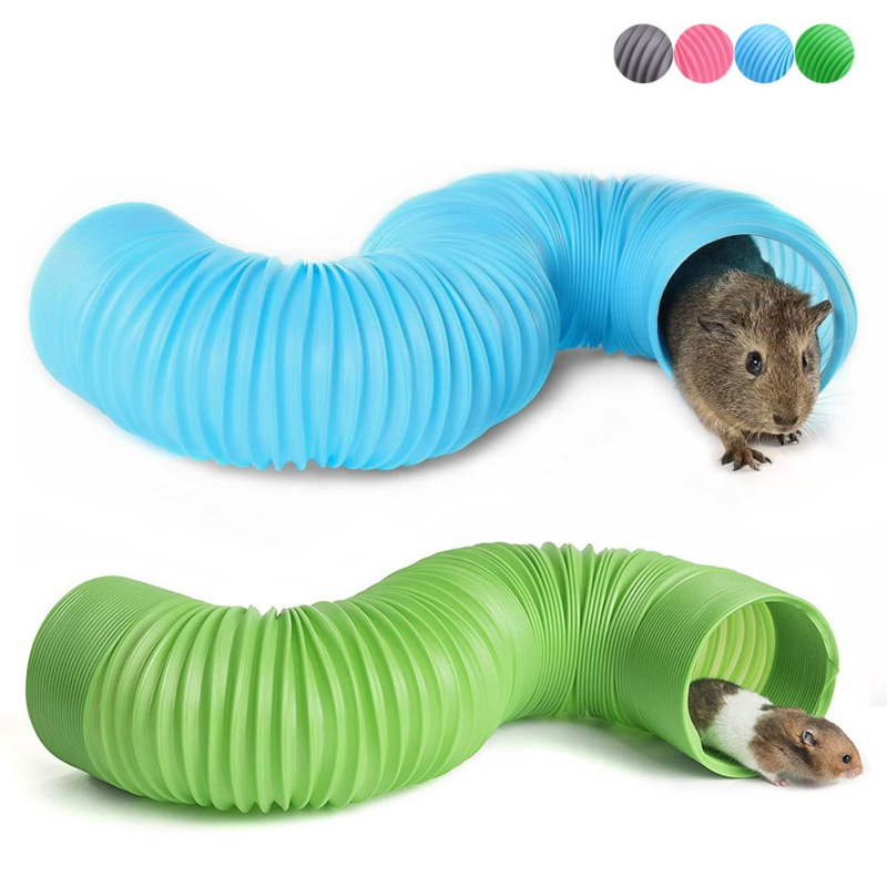 Funny Small Pet Hamster Ferrets Rat Playing Hide Tube For Indoor DIY Hideaway Pipeline Toys Tunnel Cage Toy