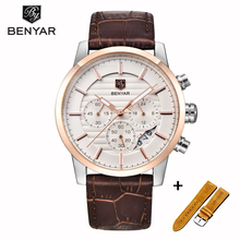 Watch Men BENYAR Mens Watches Top Brand Luxury Fashion Casual Quartz Business With Box Set Sale Clock Reloj Hombre
