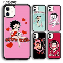 Krajews pretty cartoon Betty Boop Phone Case Cover For iPhone 5 SE 6s 7 8 plus X XR XS 11 pro max Samsung Galaxy note S8 S9 S10(China)