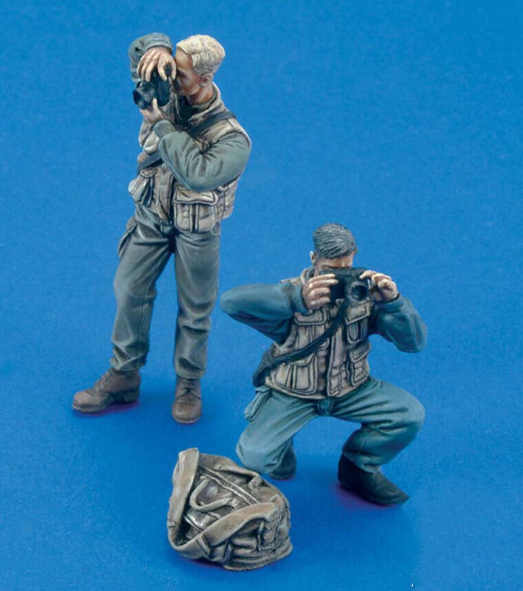 1/35 Ancient Stand Photographers (2 Figures)  Resin Figure Model Miniature Gk Unassembly Unpainted