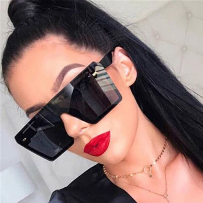 LS JOHN Oversized Women Sunglasses 2020 Brand Designer Big Frame Square Sunglasses Women UV400 Sun Glasses For Woman Eyewear