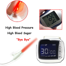 Household 650nm Laser Physiotherapy Wrist Diode LLLT for Diabetes Hypertension Treatment Diabetic Watch Laser Sinusitis Therapy 650nm laser therapy wrist low frequency hypertension hyperlipidemia hyperviscosity cholesterol treatment laser therapy watch