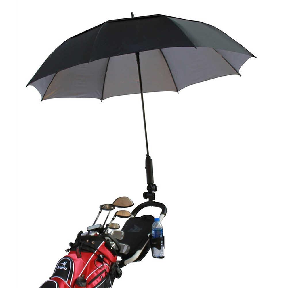 Инвалидная коляска поворотный двойной замок подставка Гольф-тележка держатель зонта Легкая установка регулируемый угол Аксессуары для велосипеда детская коляска