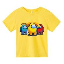 Футболка для мальчиков и девочек, милые летние хлопковые детские топы с мультяшным графическим рисунком, смешная Модная рубашка в стиле Хар...