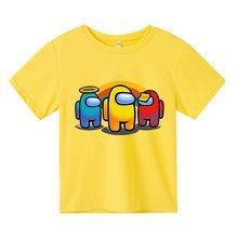 Novo jogo meninos camiseta meninas kawaii verão algodão crianças topos dos desenhos animados camisetas gráficas engraçado harajuku crianças moda tshirt
