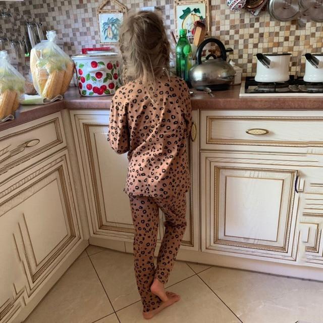 Leopard Print Pajama Set 2