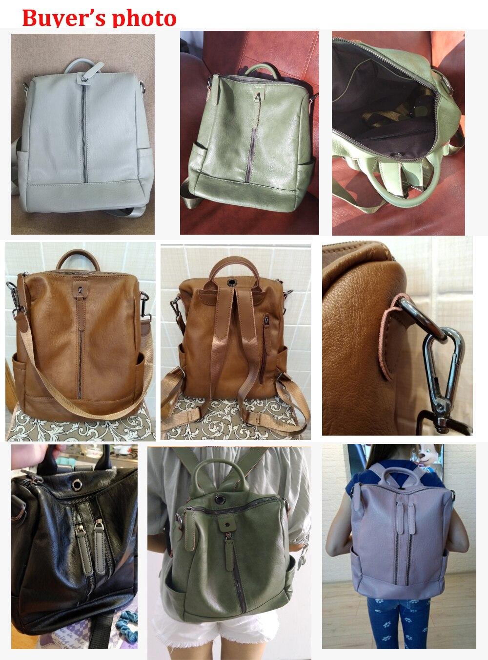H26478165292f4f938bc8b79cc3d9bd55D Female backpack mochila feminina casual Multifunction Women Leather Backpack Female Shoulder Bag Sac A Dos Travel Back Pack