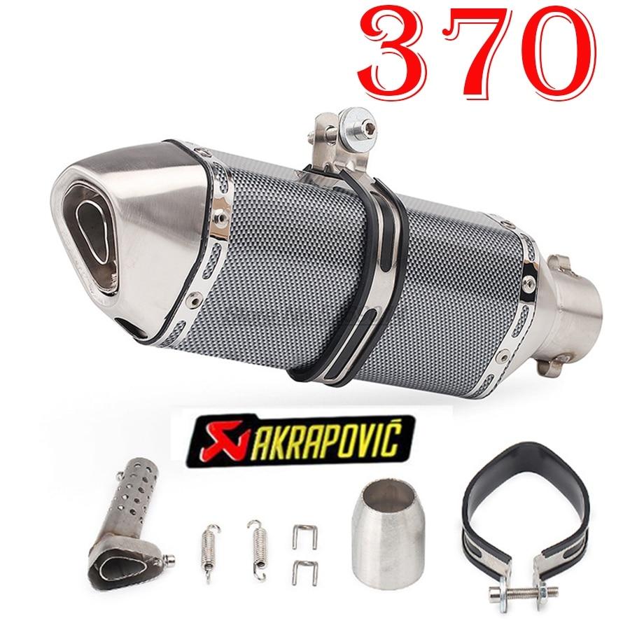 Akrapovic Moto tuyau d'échappement Moto évasion silencieux DB tueur pour Db tueur Kawasaki silencieux Honda Pcx échappement Kawasaki Z650