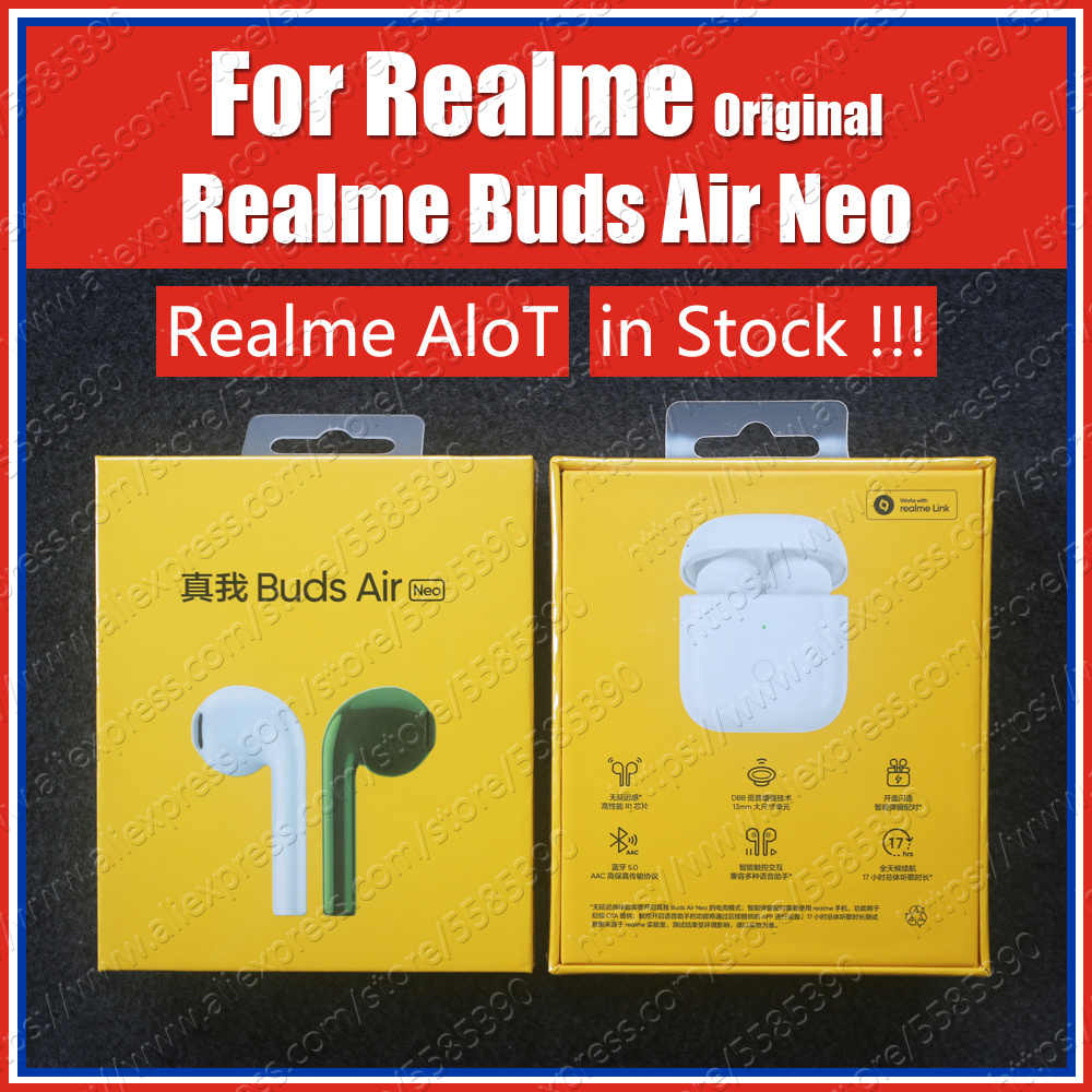 In Stock Rma205 R1 Chip 2020 Original Realme Buds Air Neo Tws Ture Wireless Bluetooth Earphones Enc Noise Reduction Headset Aliexpress
