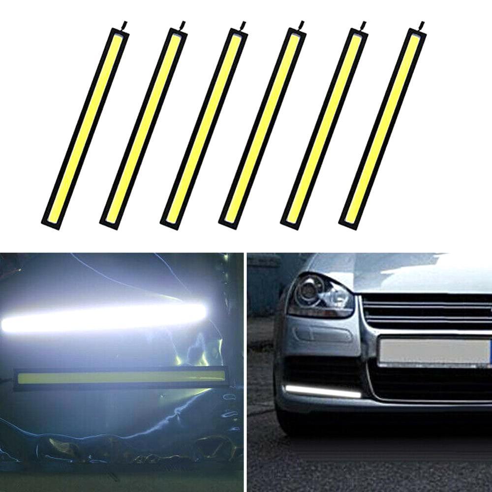 Image 2 - 캠핑 캐러밴 보트 자동차에 대 한 6x12 v 방수 화이트 drl cob led 스트립 라이트 바차량용 스티커   -