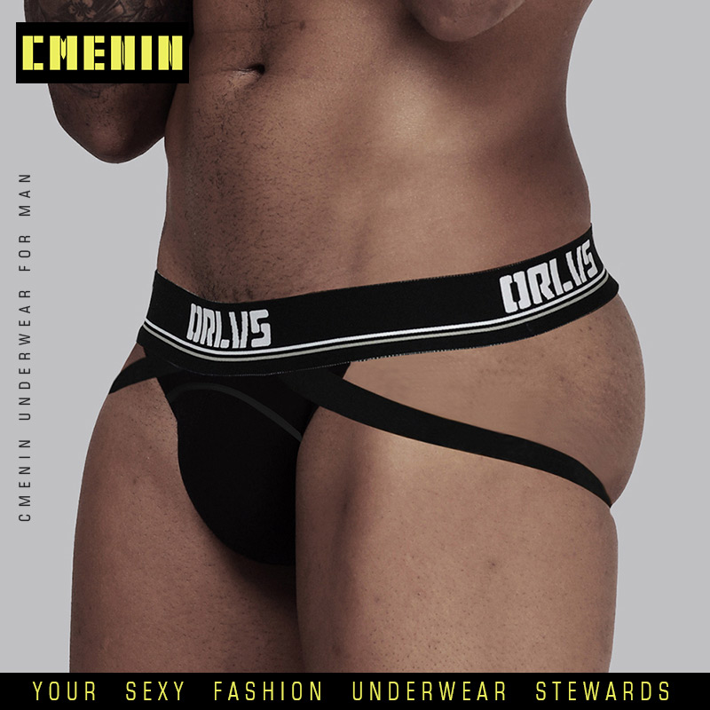 2020 Hot New Solid Cotton Breathable  Gay Men Sexy Underwear Thong Men Jockstrap Men's Underwear Mens Thongs And G Strings OR405