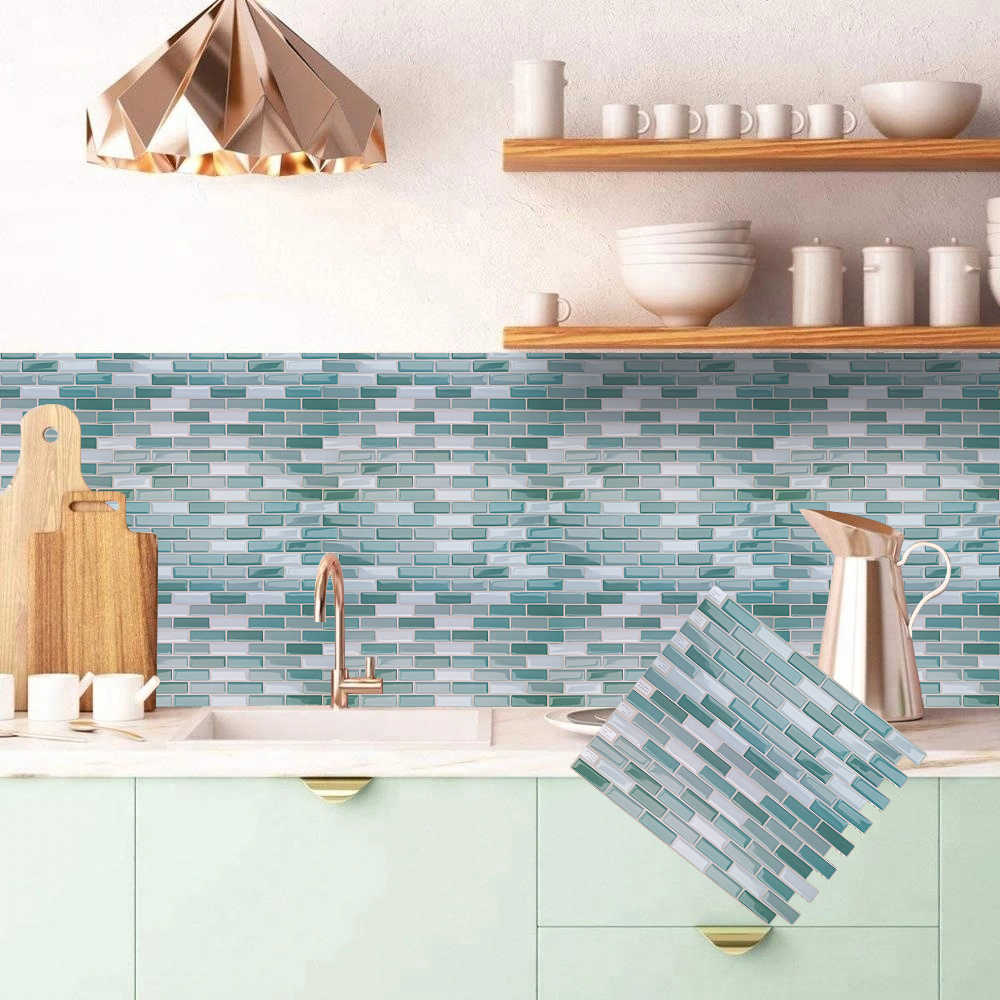 3d Mosaic Peel And Stick Kitchen Bathroom Vinyl Wall Sticker Home Decor Self Adhesive Tile Wall Stickers Aliexpress