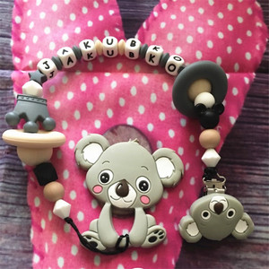 Image 5 - Chenkai 10PCS Silicone Koala Clips DIY Baby Teether Pacifier Dummy Chain Holder Soother Nursing Jewelry Toy Clips BPA Free