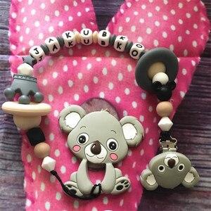 Image 5 - Chenkai Clips Koala en Silicone, 10 pièces, DIY pour bébé, anneau de dentition, sucette porte chaîne factice, attache sucette, jouet, sans BPA