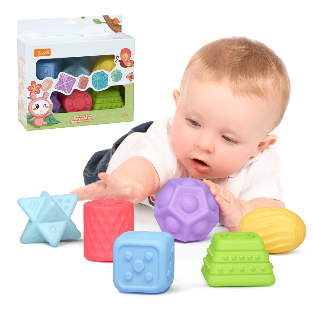 Tumama 6 Pack Sensory Balls And Massage Stress BallsTextured Multi Ball Set For Babies Toddlers Fun Bouncy Ball