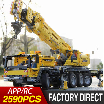 Lepining 20004 Compatible with 42009 Technic series Bricks Motor Power Mobile Crane Mk II Car Model Kit Building Blocks DIY TOYS lepin 20009 1977pcs technic series the tractor model building blocks bricks compatible with 42054 boy s favourite