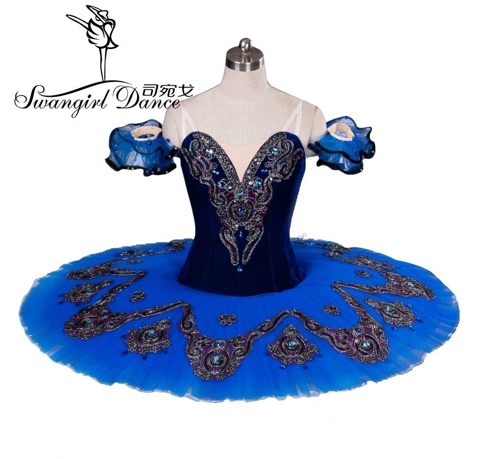 ženy modrý pták balet tutu dívky spící krása profesionální balet tutu červená klasický balet tutu pro představení BT8992