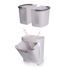 Removable Laundry Basket Handle Home Bathroom Shelf With Universal Wheel Detachable  Laundry Storage Basket