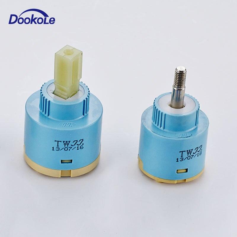 35mm Diameter Replacement Faucet Cartridge Ceramic Disc Valve, 360 Degree Rotate Cartridge Ceramic Disc Valve