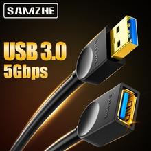 SAMZHE, Cable de extensión USB 3,0/2,0, Cable de extensión plano AM/AF de 0,5 m/1m/1,5 m/2m/3m para PC, TV, PS4, extensor de ordenador portátil