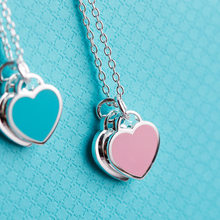 J.hangke Classic fashion charm female enamel heart-shaped pendant necklace For 925% Silver Jewelry chain necklaces