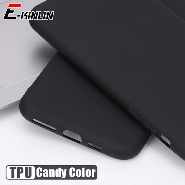 Cukierki stałe miękkiego silikonu tylna pokrywa dla Redmi 9A 9C NFC 9i 9 Prime 8 8A 7 7A TPU matowe etui na telefon tanie tanio E-KINLIN CN (pochodzenie) Pół-owinięte Przypadku Ultra Thin Candy Silicone TPU Phone Case Matte Solid Color Back Cover
