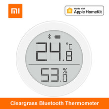 Xiaomi Cleargrass Qingping Bluetooth Thermometer Hygrometer Temperature and Humidity Sensor Support for Apple Siri and HomeKit
