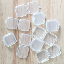 10/25 PCS Mini Transparent Plastic Box Jewelry Earplugs Medicine Storage Box Container Separate Storage Box Small Gift Box